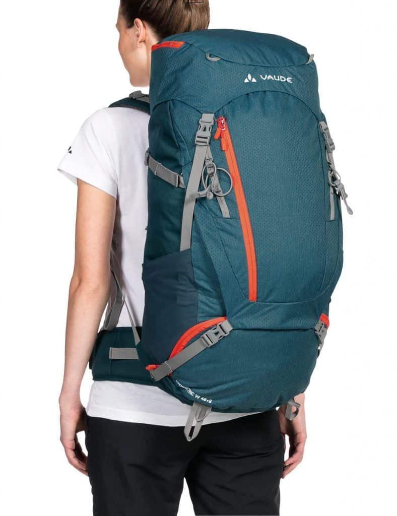 mochila viaje mujer
